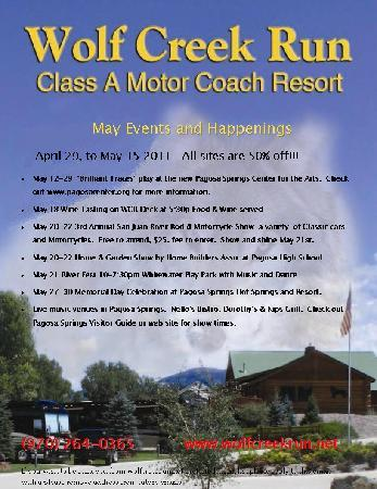 Wolf Creek Run Motorcoach Resort: MAY EVENTS
