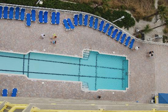 Bay Watch Resort: one of the swimming pools viewed from balcony