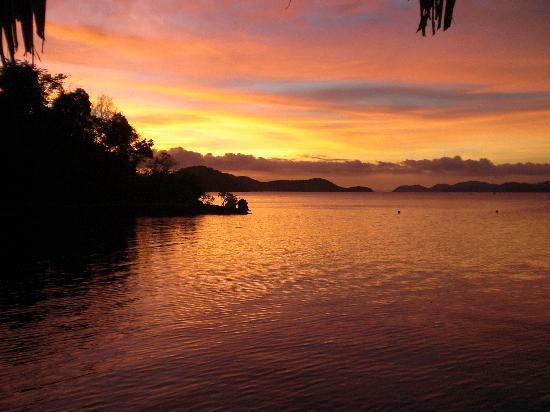 Culion, Filippinerna: sundown in Chindonan