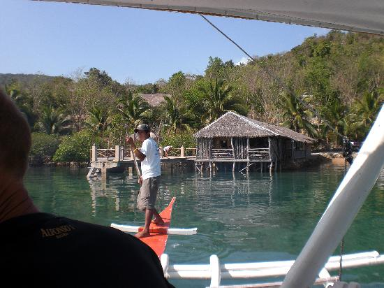 Chindonan Island Resort & Divecenter: arrival at Chindonan