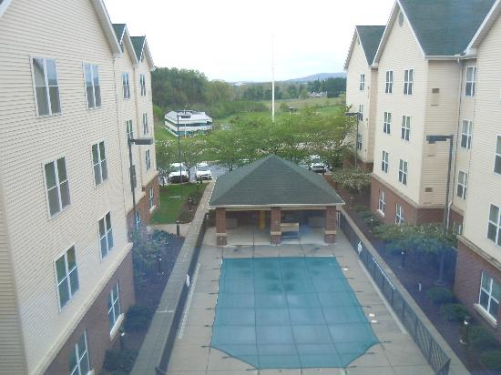 Homewood Suites by Hilton Reading: our view....pool area