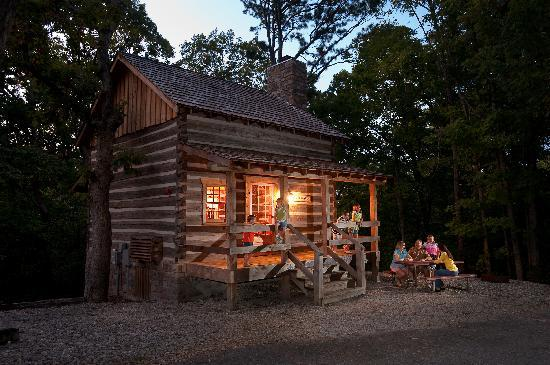 Silver Dollar City's Wilderness: Rustic Log Cabin