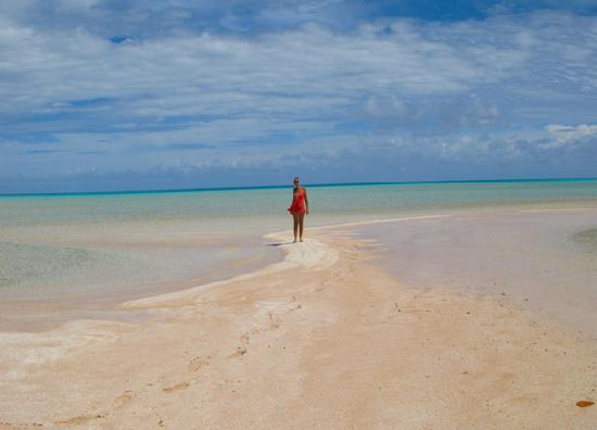 Fakarava, French Polynesia: excursion aux sables roses