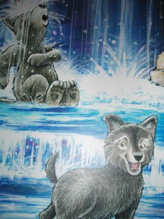 Great Wolf Lodge: wolf den wall paper