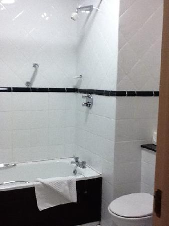 Temple Gate Hotel: outdated and dirty bathroom