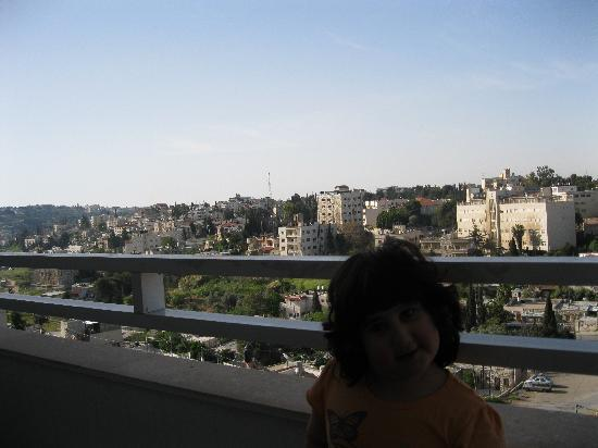 Mount Scopus Hotel: this picture taken from room 201 balcon