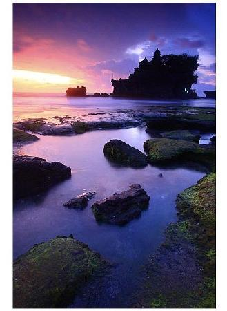 Canggu, Indonsie : Sunset in Tanah Lot 