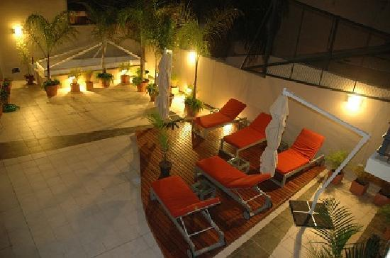 Olmo Dorado Apart Hotel: Vista al Area Relax