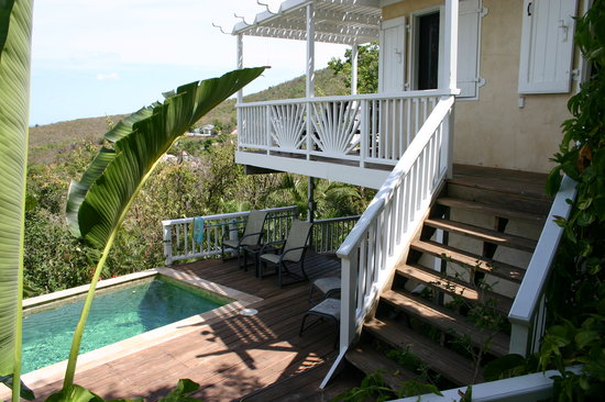 Perelandra Villa: The private pool and deck
