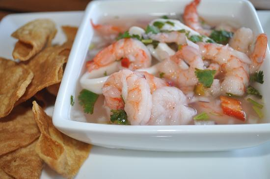 Gulf of Papagayo, Costa Rica: Seafood ceviche - as good as it looks.