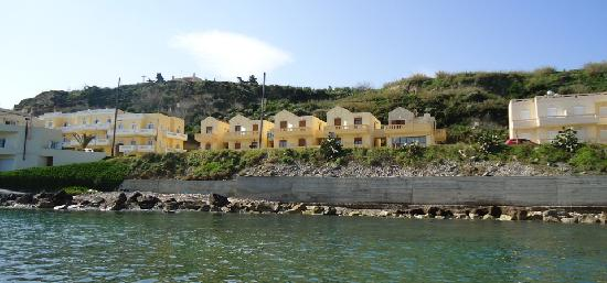 Porto Kalyves Seaside Apartments: view from the sea