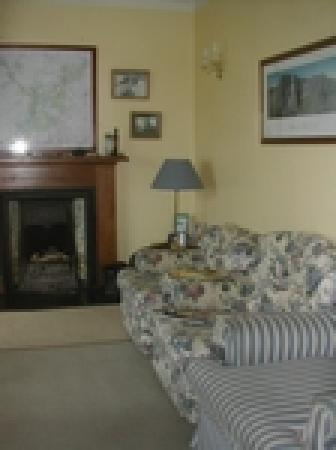 Fraoch Lodge: Our guest lounge - minus cake and log burning fire in this picture