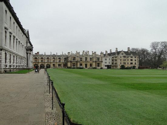 Cambridge, UK : Grassed area near Kings College Chapel