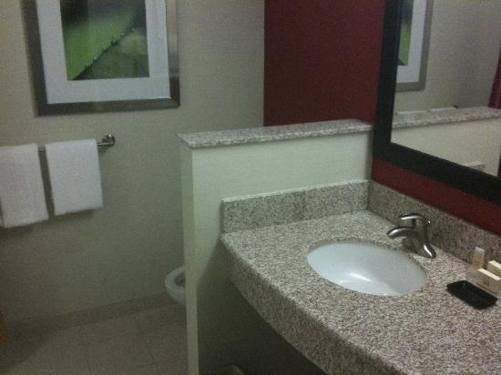 Clean, modern bathroom. - Picture of Courtyard Charlotte Concord ...