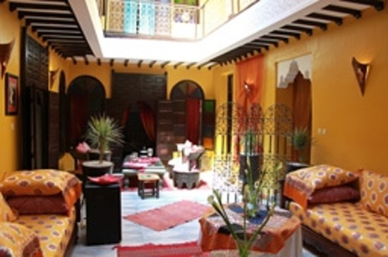 Riad SACR: Patio & Réception