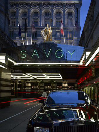 The Savoy : Savoy Court Entrance
