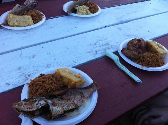 Great local food and hangout outriggers native for Snappers fish chicken