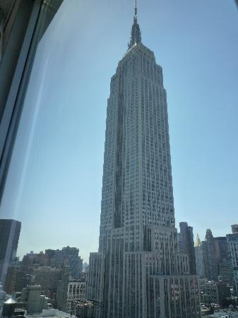 View Of The Empire State Building From Room On 30th Floor