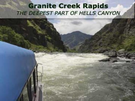 Hells Canyon Jet Boat Trips & Lodging: Granite Creek Rapid