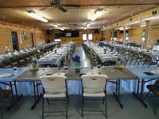 Banquet Hall Setup Picture Of Hope Cabins And Banquet
