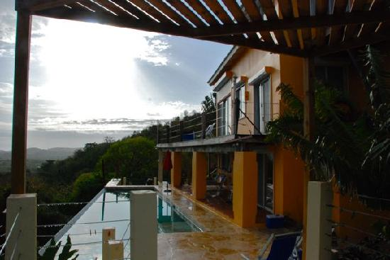 Vieques Villa Gallega A-16-N: deck and house