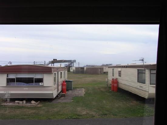 Saltcoats, UK: View from Caravan