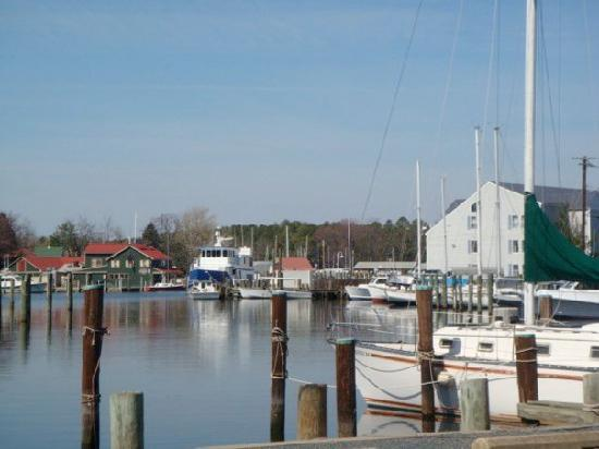 St. Michaels, MD: View having drinks on the dock.