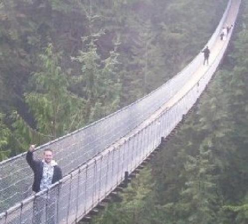 Nanaimo, Canada: Suspension bridge