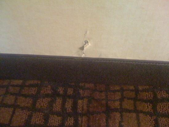 Comfort Inn &amp; Suites Tinton Falls: ripped wallpaper