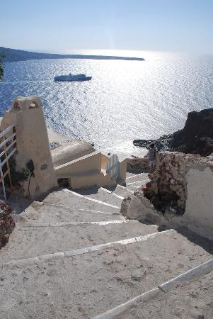 Old Oia Houses: Stairs outside the house
