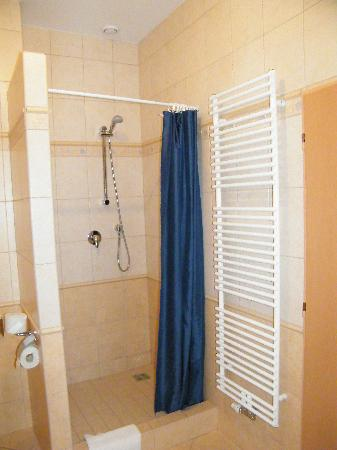 Hotel Maxi: Shower with heated towel rack