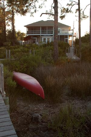 Cape San Blas Inn: view from the deck up to the Inn