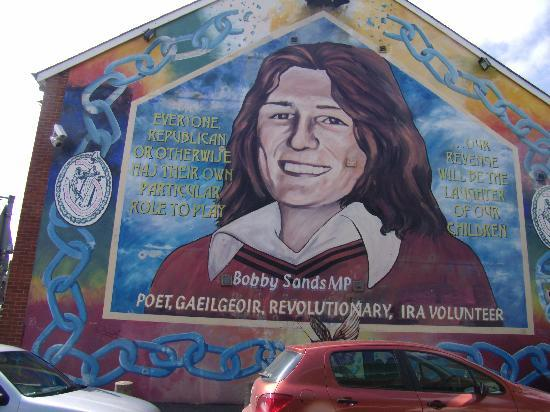 Murdered by plastic bullets picture of coiste falls rd for Bobby sands mural falls road