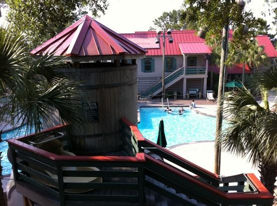 Disney's Hilton Head Island Resort: view from balcony. poolview two bedroom