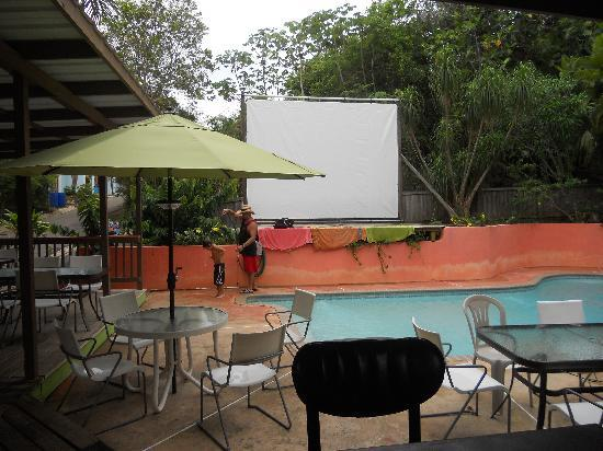 Pools Beach: Bar &amp; Rest where they show surf flicks each night