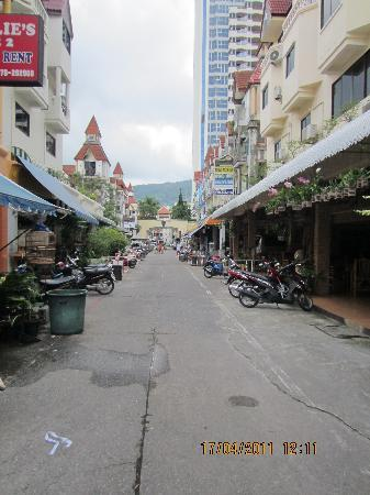 Adonis Guest House: the alley to main street