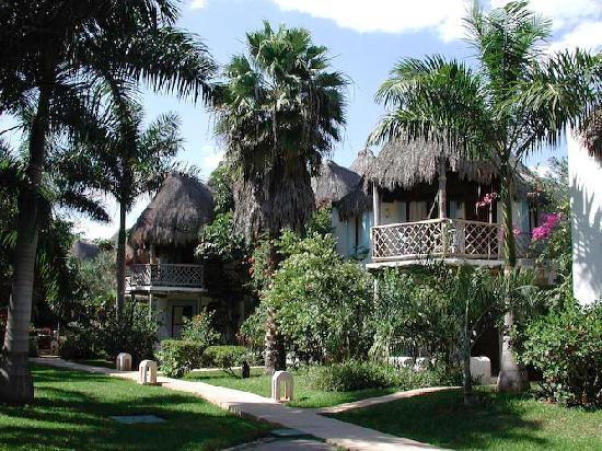 Mahekal Beach Resort: Our rooms are surrounded by green and exuberant gardens.