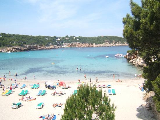 Portinatx, Spain: the beach in portintax