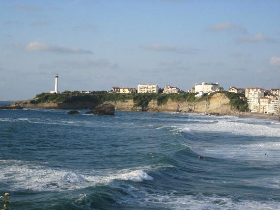 Biarritz, Frankrijk: view of the beach