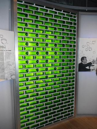 beer bottle wall picture of heineken experience