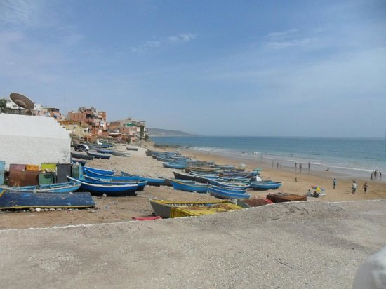 Taghazout, Morocco: the beach next to SB
