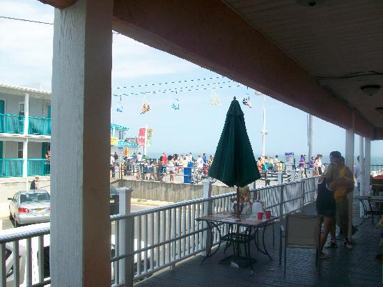 Seaside Heights, NJ: a picture taken from our room which displays the closeness to the boardwalk
