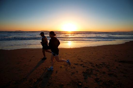Oxnard, CA: Running on the Beach