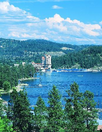 Aerial shot of Coeur d&#39;Alene