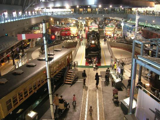 Saitama, Japan: Many historical trains on .