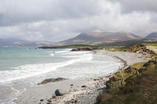 Renvyle, Irland: View from the hotel beach