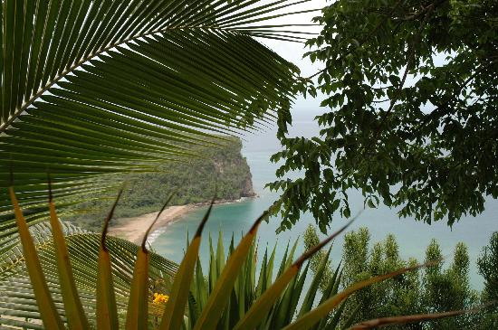 Marigot Bay, St. Lucia: Southwest view from pool deck