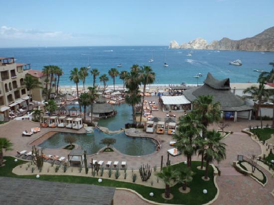 ME Cabo: view of pool area from our room