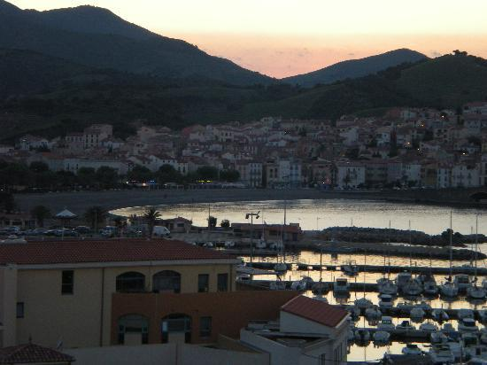 Banyuls-sur-mer, France : view from balcony at dusk