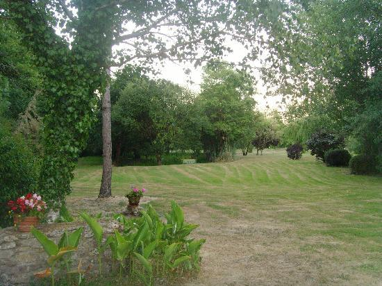 Lege, Frankreich: View of rear garden from bedroom